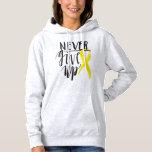 NEVER GIVE UP Women's Basic  Hooded Sweatshirt