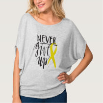 NEVER GIVE UP Women's Bella Canvas Flowy Top