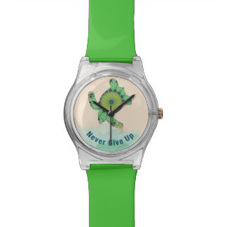 Never Give Up Wrist Watch