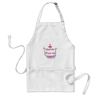 Never Giveup  -  Artistic Motivational presention Adult Apron