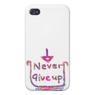 Never Giveup - Artistic Motivational presention iPhone 4 Case