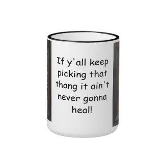 NEVER GONNA HEAL COFFEE MUG