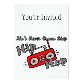 Never Gonna Stop Hip Hop 5x7 Paper Invitation Card