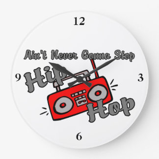 Never Gonna Stop Hip Hop Wall Clock