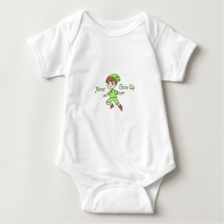 NEVER GROW UP BABY BODYSUIT
