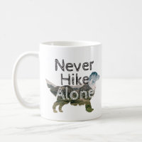 Never Hike Alone - Golden Retriever Mountain Coffee Mug