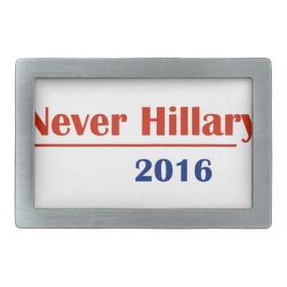 Never Hillary 2016 Belt Buckle