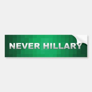 Never Hillary Clinton Bumper Sticker