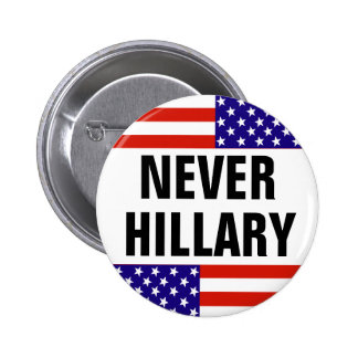 NEVER HILLARY For President 2016 Pinback Button