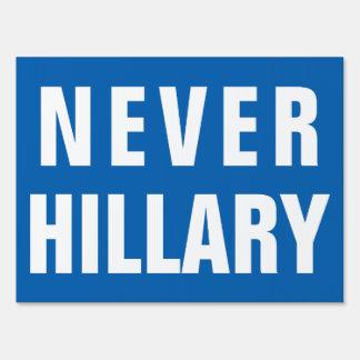 NEVER HILLARY For President 2016 Yard Sign