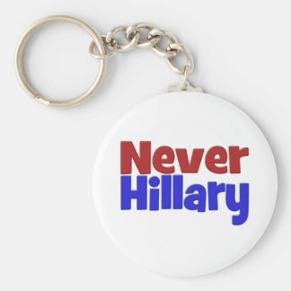 Never Hillary Key Chain, red & blue Keychain
