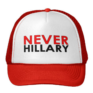 Never Hillary Red Trucker Hat