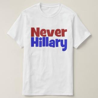 Never Hillary Shirt, red & blue