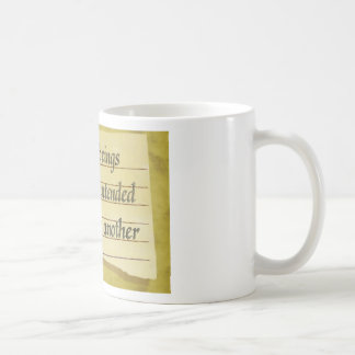 Never Intended To Injure One Another Classic White Coffee Mug