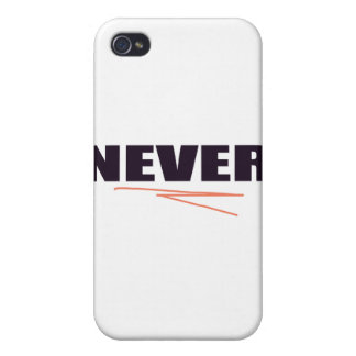 Never iPhone 4/4S Cover
