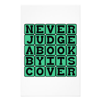 Never Judge A Book By Its Cover Stationery