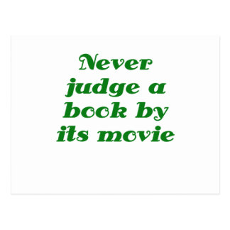 Never Judge a Book by its Movie Postcard
