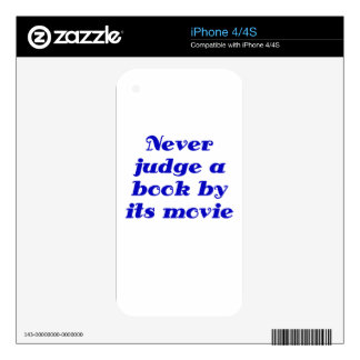 Never Judge a Book by its Movie iPhone 4S Decals