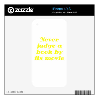 Never Judge a Book by its Movie Decals For The iPhone 4