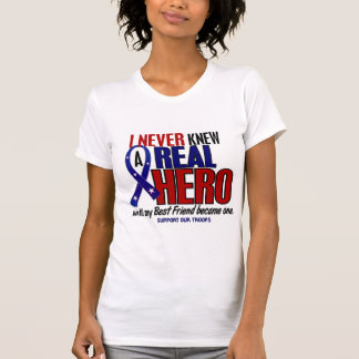 Never Knew A Hero 2 Best Friend (Support Our Troop T-Shirt