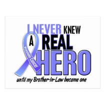 Never Knew A Hero 2 Brother-In-Law Prostate Cancer Postcard