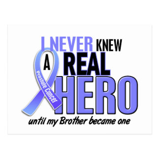 Never Knew A Hero 2 Brother Prostate Cancer Postcard