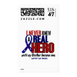 Never Knew A Hero 2 Brother (Support Our Troops) Stamp