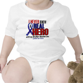 Never Knew A Hero 2 Brother (Support Our Troops) T Shirts