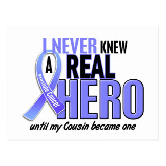Never Knew A Hero 2 Cousin Prostate Cancer Postcard