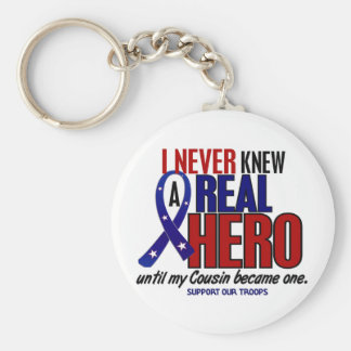 Never Knew A Hero 2 Cousin (Support Our Troops) Keychain
