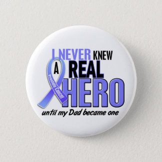 Never Knew A Hero 2 Dad Prostate Cancer Button