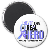 Never Knew A Hero 2 Dad Prostate Cancer Magnet
