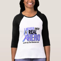 Never Knew A Hero 2 Dad Prostate Cancer T-Shirt