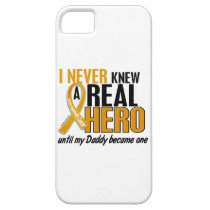 Never Knew a Hero 2 Daddy Appendix Cancer iPhone SE/5/5s Case