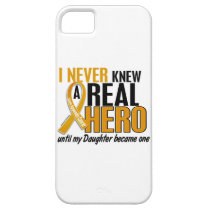 Never Knew a Hero 2 Daughter Appendix Cancer iPhone SE/5/5s Case