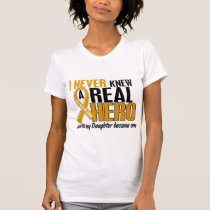 Never Knew a Hero 2 Daughter Appendix Cancer T-Shirt