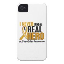 Never Knew a Hero 2 Father Appendix Cancer iPhone 4 Case