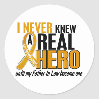 Never Knew a Hero 2 Father-In-Law Appendix Cancer Classic Round Sticker