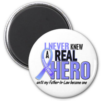 Never Knew A Hero 2 Father-In-Law Prostate Cancer Fridge Magnets