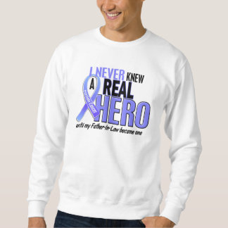 Never Knew A Hero 2 Father-In-Law Prostate Cancer Sweatshirt