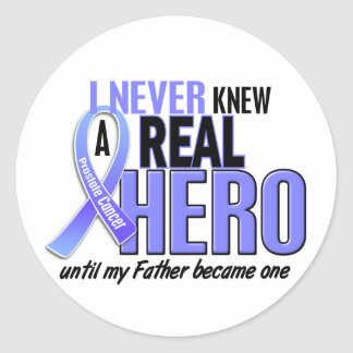 Never Knew A Hero 2 Father Prostate Cancer Classic Round Sticker