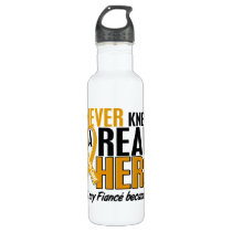 Never Knew a Hero 2 Fiance Appendix Cancer Stainless Steel Water Bottle