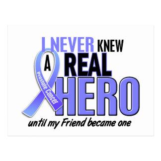 Never Knew A Hero 2 Friend Prostate Cancer Postcard