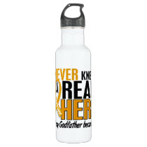 Never Knew a Hero 2 Godfather Appendix Cancer Water Bottle