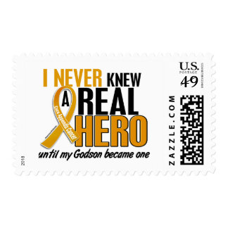 Never Knew a Hero 2 Godson Appendix Cancer Postage Stamp