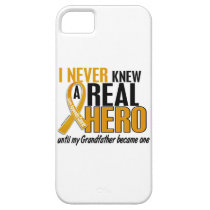 Never Knew a Hero 2 Grandfather Appendix Cancer iPhone SE/5/5s Case