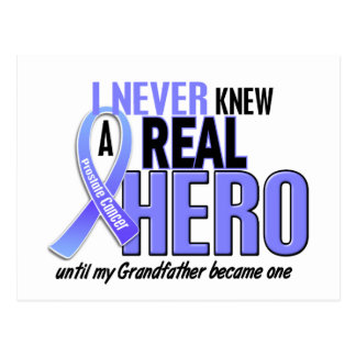 Never Knew A Hero 2 Grandfather Prostate Cancer Postcard