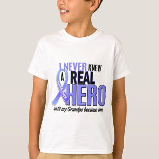 Never Knew A Hero 2 Grandpa Prostate Cancer T-Shirt