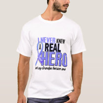 Never Knew A Hero 2 Grandpa Prostate Cancer T-Shirt