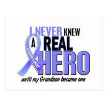 Never Knew A Hero 2 Grandson Prostate Cancer Postcard